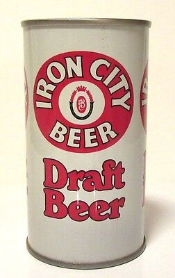 Iron City Draft Beer Can Top Open