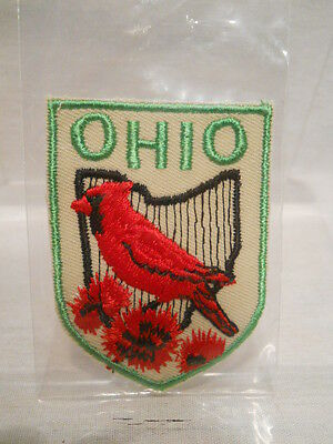 Vintage - OHIO -  Embroidered Emblem Patch Souvenir - New Old Stock