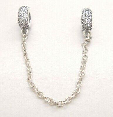 Authentic Pandora Sterling Silver Inspiration Safety Chain 791736CZ