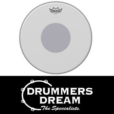 "Remo 14"" Controlled Sound 'X' Coated Snare Drum Head with Black Dot CX-0114-10"