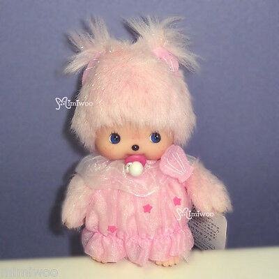 "Sekiguchi Monchhichi 5"" Bebichhichi Plush Lace Dress Doll BBCC Shell Pink"