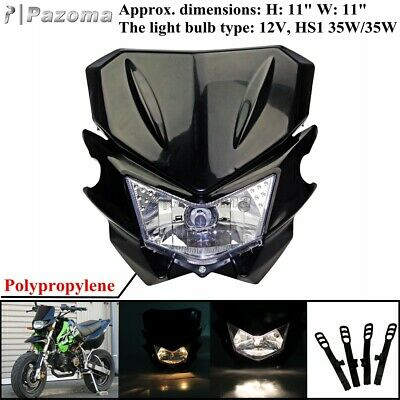 Black Headlight Head Lamp Fairing Universal for STREETFIGHTER Bike DIRT BIKE
