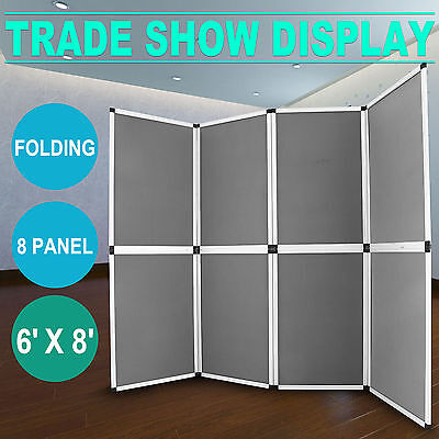 6'x8' Folding 8 Panels Trade Show Display Booth Screen Fabric Presentation