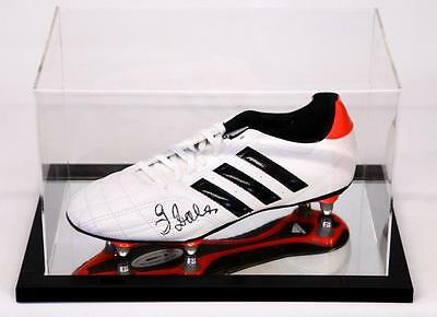 Adidas Football Boot in Acrylic Case  signed by Zola Chelsea  Proof COA