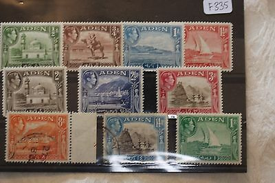 Aden card of used stamps - lot 319