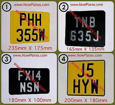 Motorcycle Number Plate Black & Silver or Yellow & Black)( Pressed Plate x 1