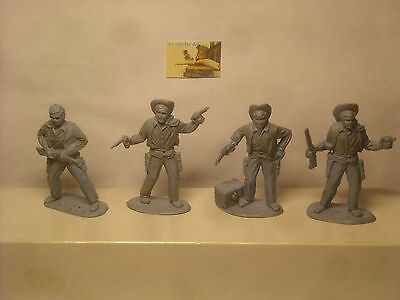 Soldatini Toy soldiers Timpo Solid Mould Cowboys  scala 1:32 cm 6