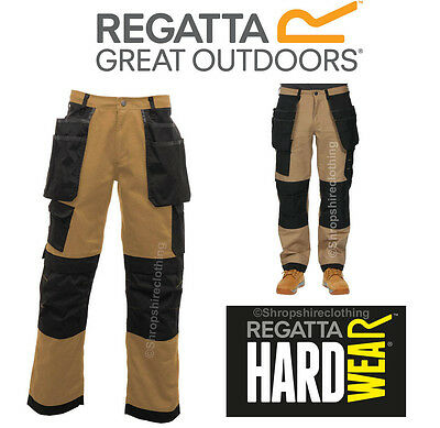 Regatta Mens Hardwear Work Trousers Workline Workwear Cargo Kneepad Multi Pocket