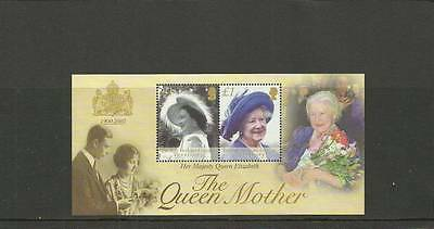 Biot Sgms269 Queen Mother Commemoration Minisheet Mnh