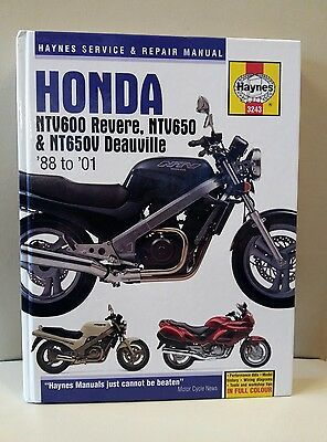 Honda NTV600 Revere,NTV650 & NTV650V Deauville Haynes Workshop Manual '88 to '01