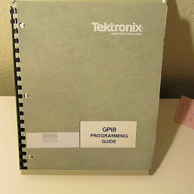 Tektronix Gpib Programming Guide, 8/81, Large Manual Weighs Almost 2 Lbs