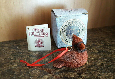 Stone Critter Littles Cardinal Tree Ornament SCO-546 Excellent Condition!