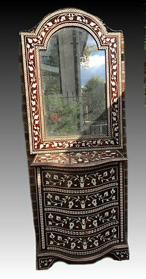 Syrian Wood Chest of Drawers with Mirror.