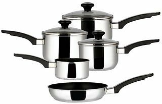 Meyer Prestige Every Day 5 Piece Stainless Steel Saucepan Set Induction