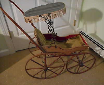 Early Joel Ellis type doll carriage #5