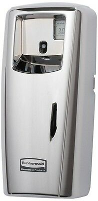 Rubbermaid Commercial Odor-Control Aerosol Dispenser, LCD Display, Chrome