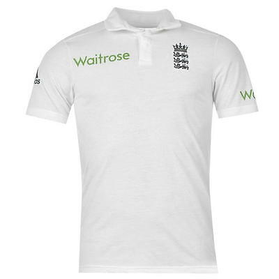 England Cricket Team Test Shirt Official Adidas White Sports