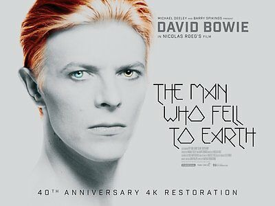 DAVID BOWIE THE MAN WHO FELL TO EARTH 2016 40th 4K MOVIE A6+A4+A3+FRAMED PRINT