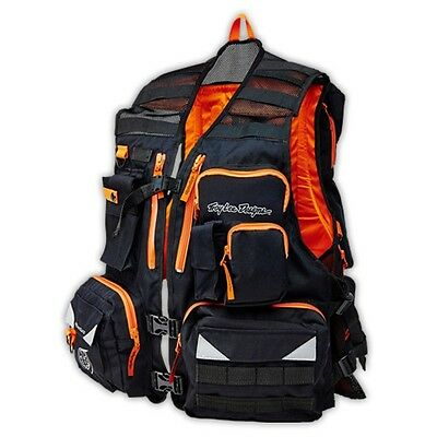 Troy Lee Designs Adventure Transfer Mens Vest Black/Orange SM/MD