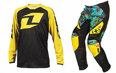 Kids One Industries Youth Raglan No Fear Greed Yellow Black Motocross Mx Kit