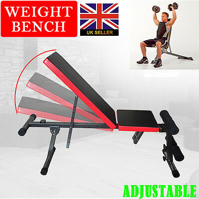 Sports Gym Dumbbell Weight Bench Flat Incline Decline Fitness Workout Weights