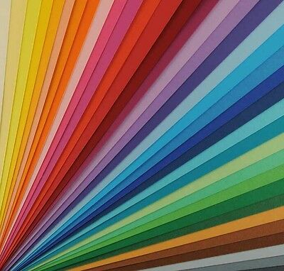 30 x A4 sheets double sided coloured card mix, 160gsm