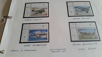 British Indian Ocean Territory 1993 Sg 136-139 75Th Anniv Of Royal Air Force Mnh