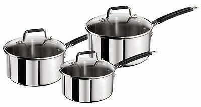 Jamie Oliver by Tefal Stainless Steel Classic Series Cookware Set 3 Pieces