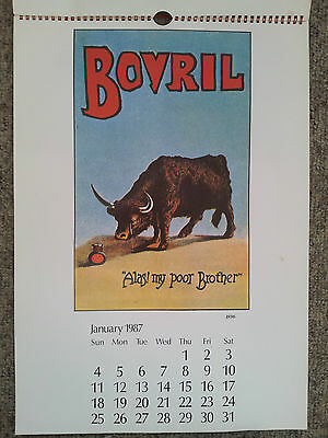Bovril Centenary Celebration Calendar 1886-1986 1987
