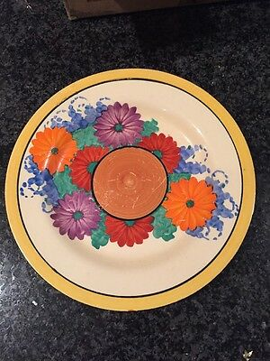 Rare Art Deco CLARICE CLIFF GAY DAY Side Plate Stamped BIZARRE