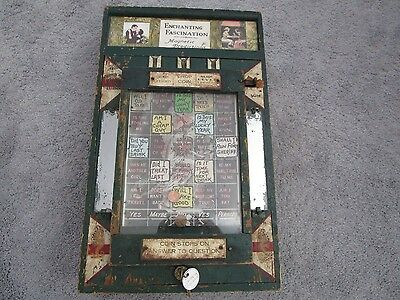 Vintage 1915 1¢ Enchanting Fascination Coin Drop Game Coin-Op Trade Stimulator