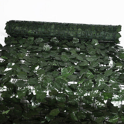 Modern Artificial Ivy Leaf Screening Hedge Wall Cover Garden Outdoor Fence 1x3m