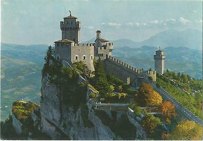 Second and Third Towers Castle San Marino Postcard 1968