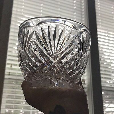 """Waterford Crystal 4"""" Bowl Excellent Condition Scalloped Diamond Cut Cascade (?)"""