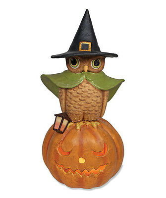 Bethany Lowe Halloween Witchy Owl On Pumpkin New Closeout TJ2407 Large