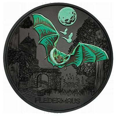 Austria 2016 - 3 Euro Coin BAT Glow in the Dark Colourful creatures SOLD OUT
