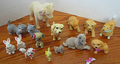MATTEL'S BARBIE AND OTHER DOLLS PETS 14pc.