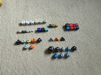 Dice Job Lot, many sided Dice included