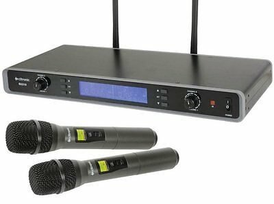 Chord RU210 Dual UHF Wireless Handheld Microphone System Tuneable 171.970