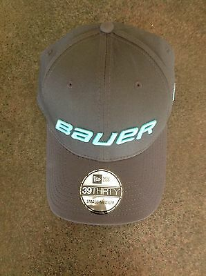 Bauer Hockey New Era 39/30 Meshback Gray/Teal Cap,Hat Size S/M