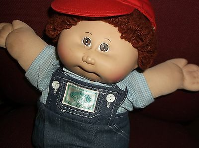 Vintage 1984 Cabbage Patch Kids Boy Doll  Red hair with clothes no shoes