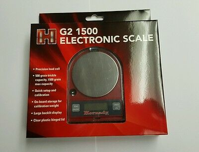 Hornady Electronic Powder Scale G2-1500 1500 Grain Capacity # 050106 NIB