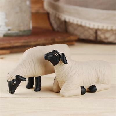 Blossom Bucket Set of 2 Standing and Laying Sheep  **So Cute**