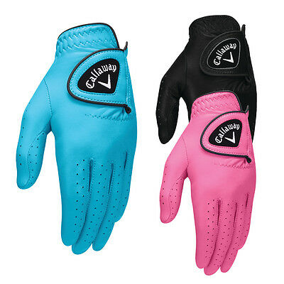 New LH Callaway Women's Opti-Color (3) Golf Glove Pack - 3 Colors - SIZE: Small