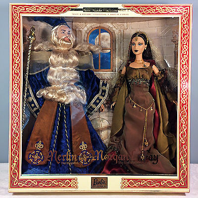 2000 Ken and Barbie as Merlin and Morgan Le Fay Giftset - Limited Edition - NRFB