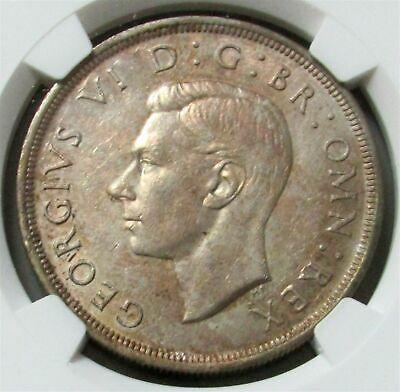 1937 Silver Great Britain 1 Crown King George Vi Ngc Mint State 61
