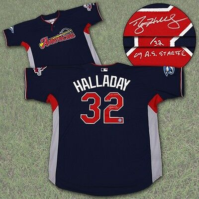 Roy Halladay Toronto Blue Jays Autographed 2009 All Star Game Jersey #/32