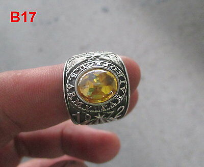 US Army  Ring , Echt Silber 925 , CITRIN Nature Edelstein B17 Gr.50-70