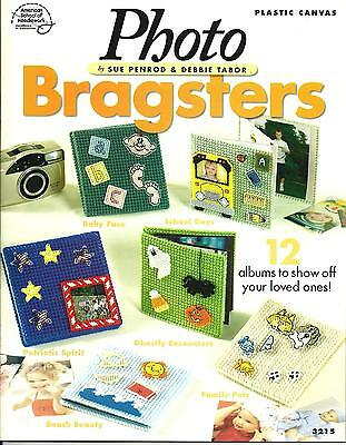 PHOTO BRAGSTERS Plastic Canvas PATTERN Book - Photo Albums - 12 Designs
