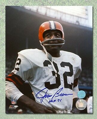 Jim Brown Cleveland Browns Autographed Rookie Close-Up 8x10 Photo